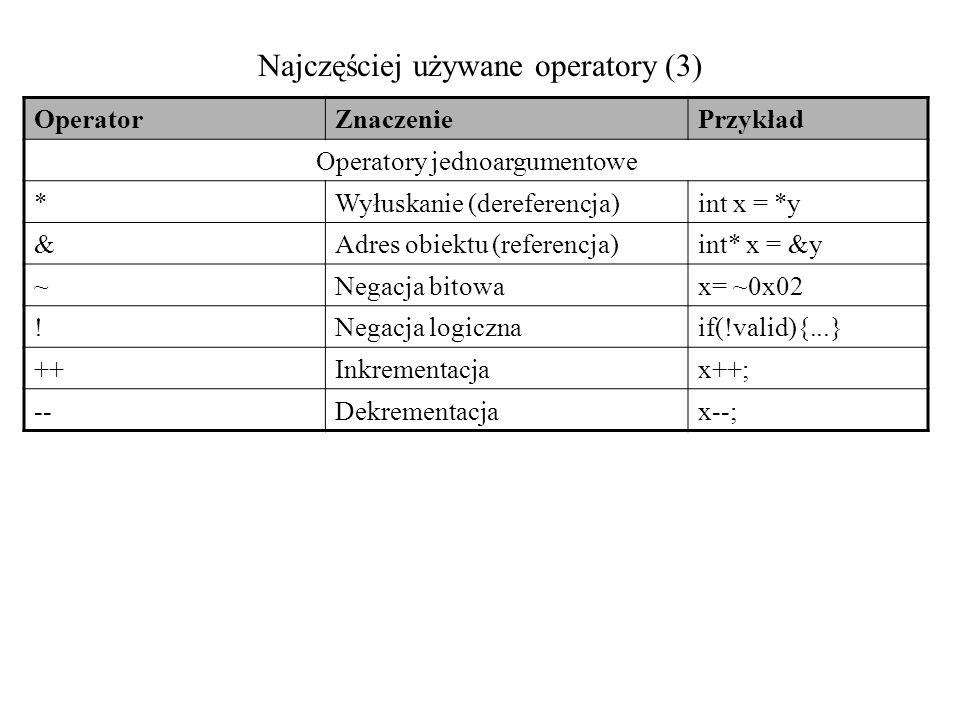 Najczęściej używane operatory (3)