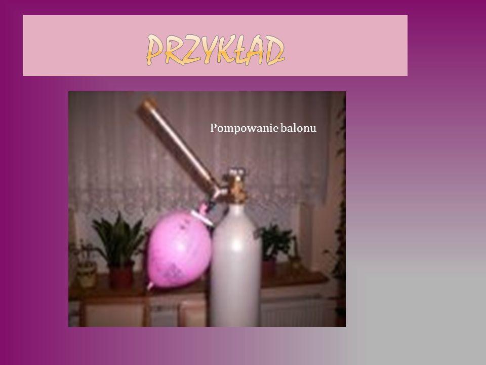 przykład Pompowanie balonu