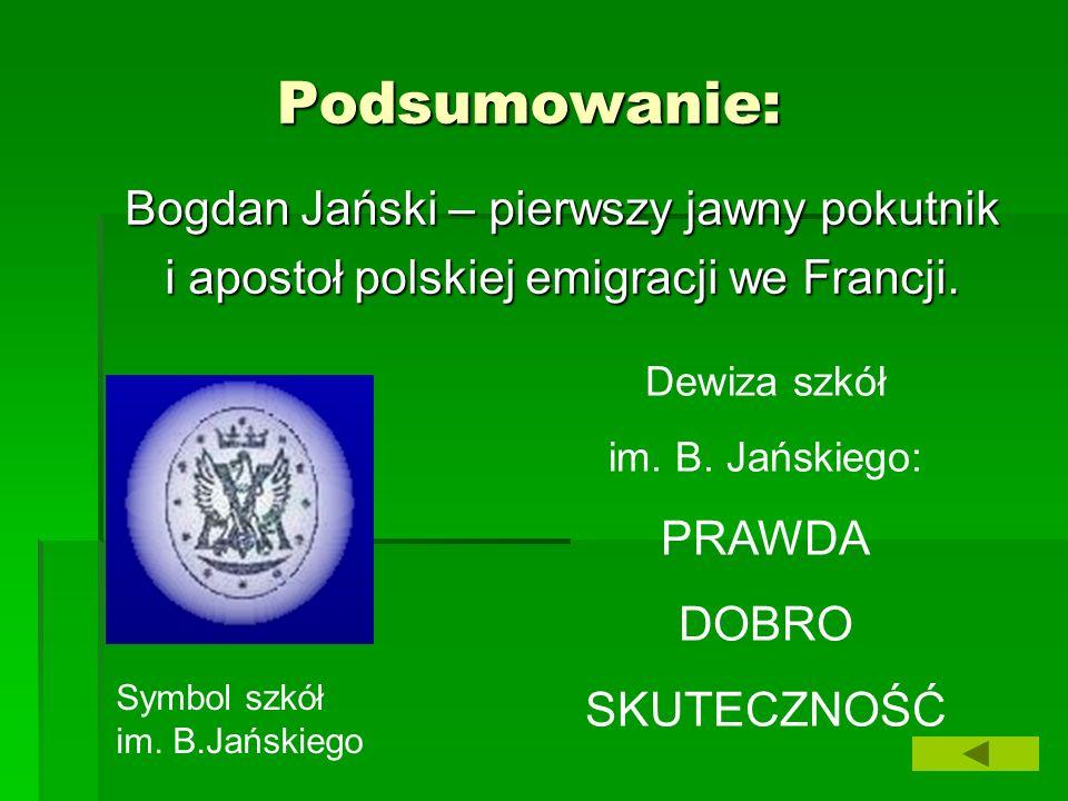 Podsumowanie: Bogdan Jański – pierwszy jawny pokutnik