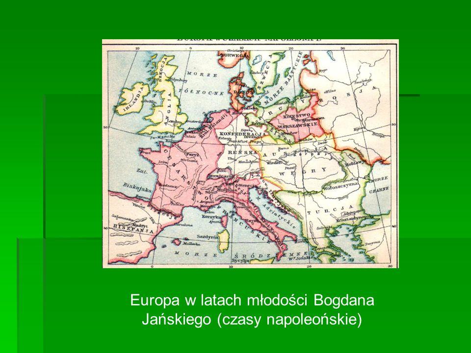 Europa w latach młodości Bogdana Jańskiego (czasy napoleońskie)