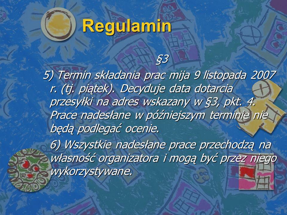 Regulamin §3.