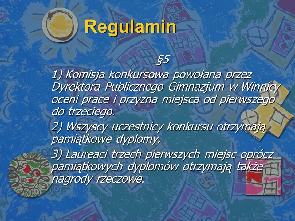 Regulamin §5.
