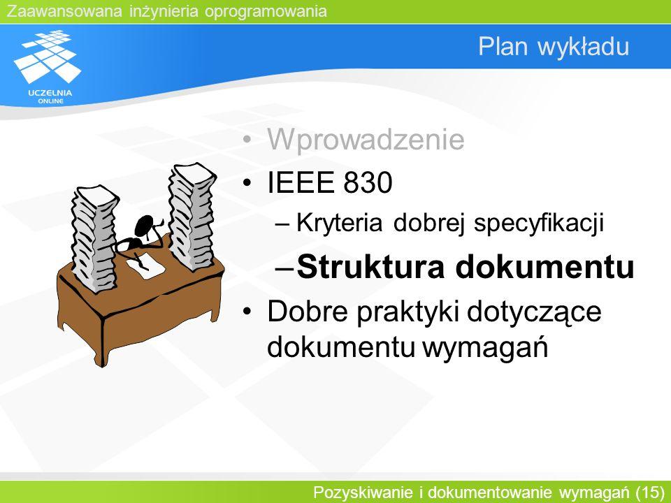 Struktura dokumentu Wprowadzenie IEEE 830