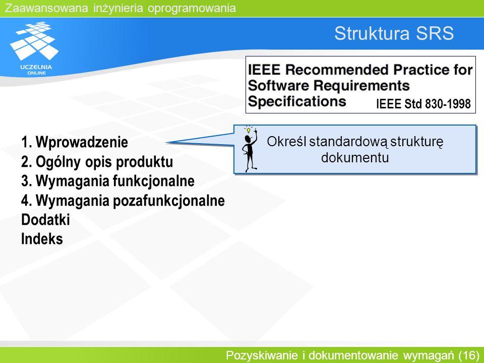 Określ standardową strukturę dokumentu
