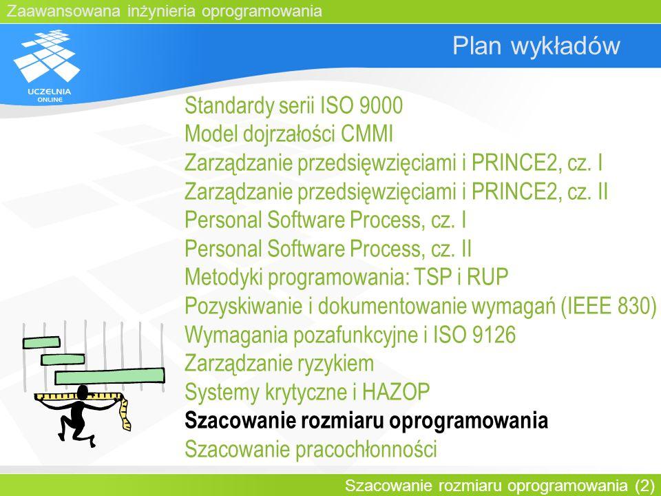 Plan wykładów Standardy serii ISO 9000 Model dojrzałości CMMI