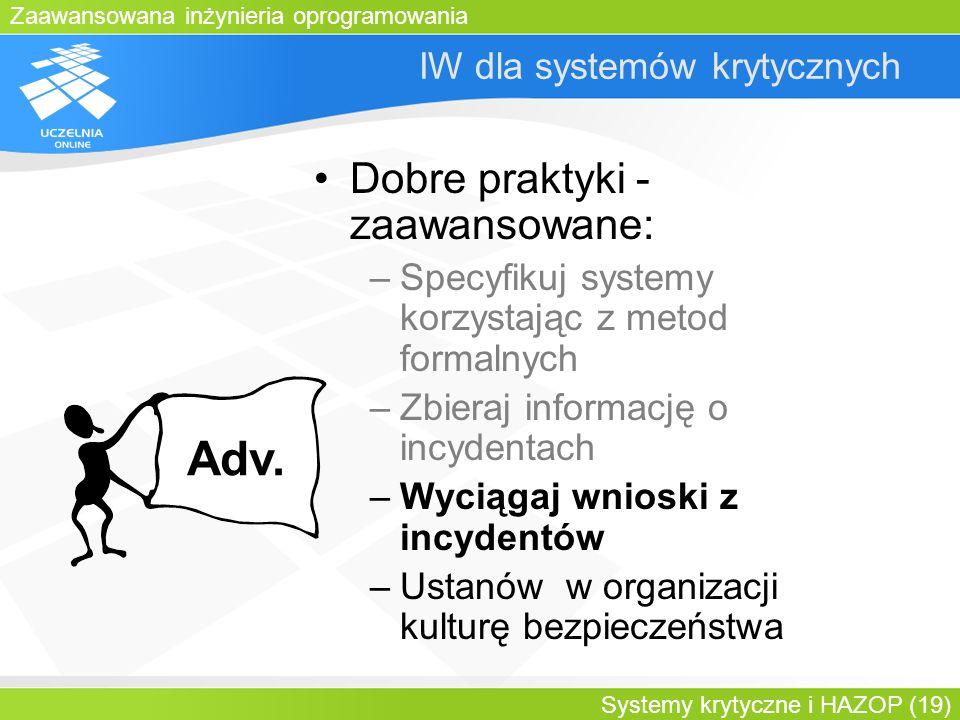 IW dla systemów krytycznych