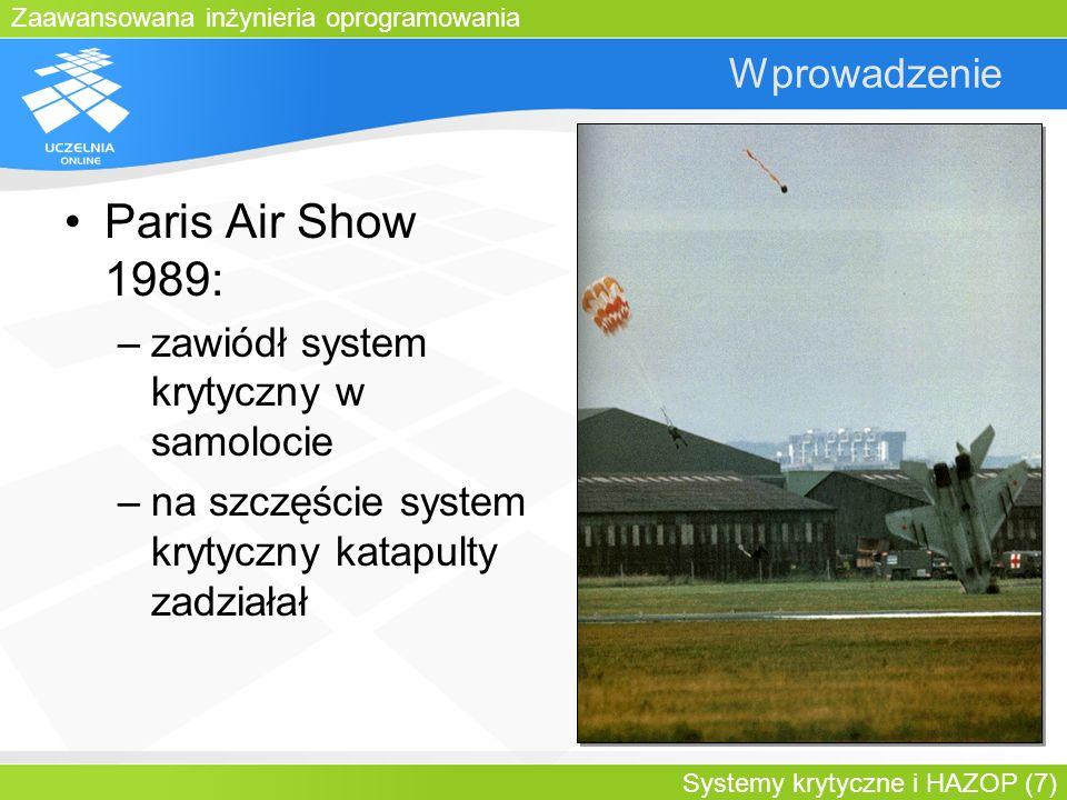 Paris Air Show 1989: Wprowadzenie zawiódł system krytyczny w samolocie