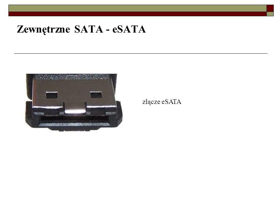 Zewnętrzne SATA - eSATA
