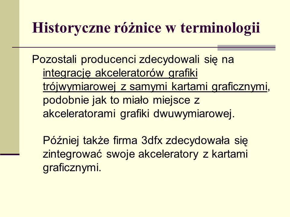 Historyczne różnice w terminologii