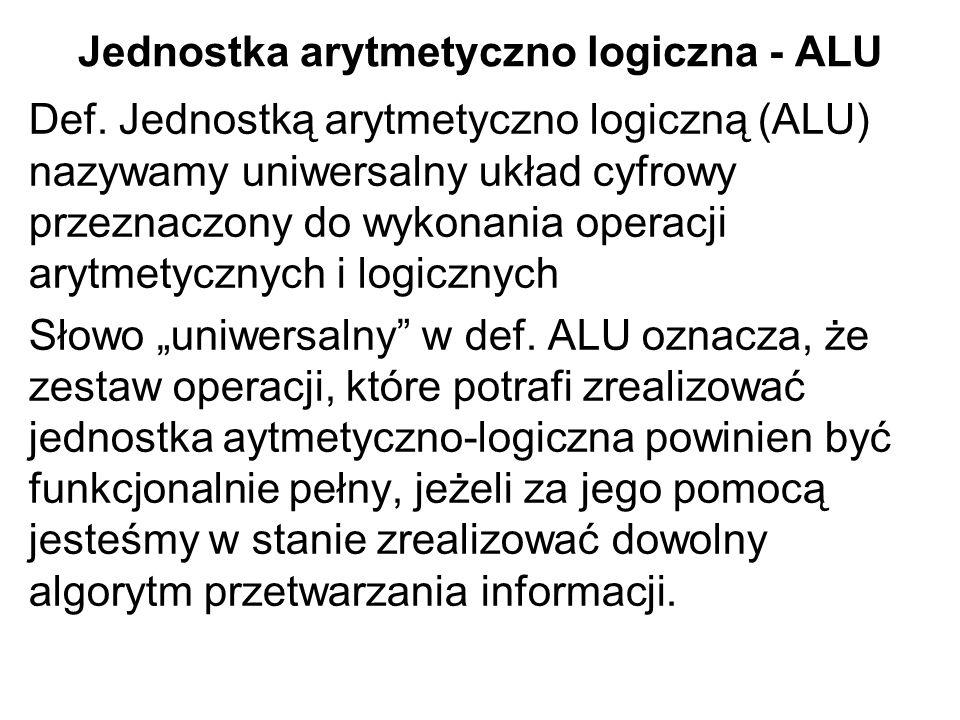 Jednostka arytmetyczno logiczna - ALU