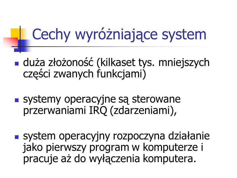 Cechy wyróżniające system