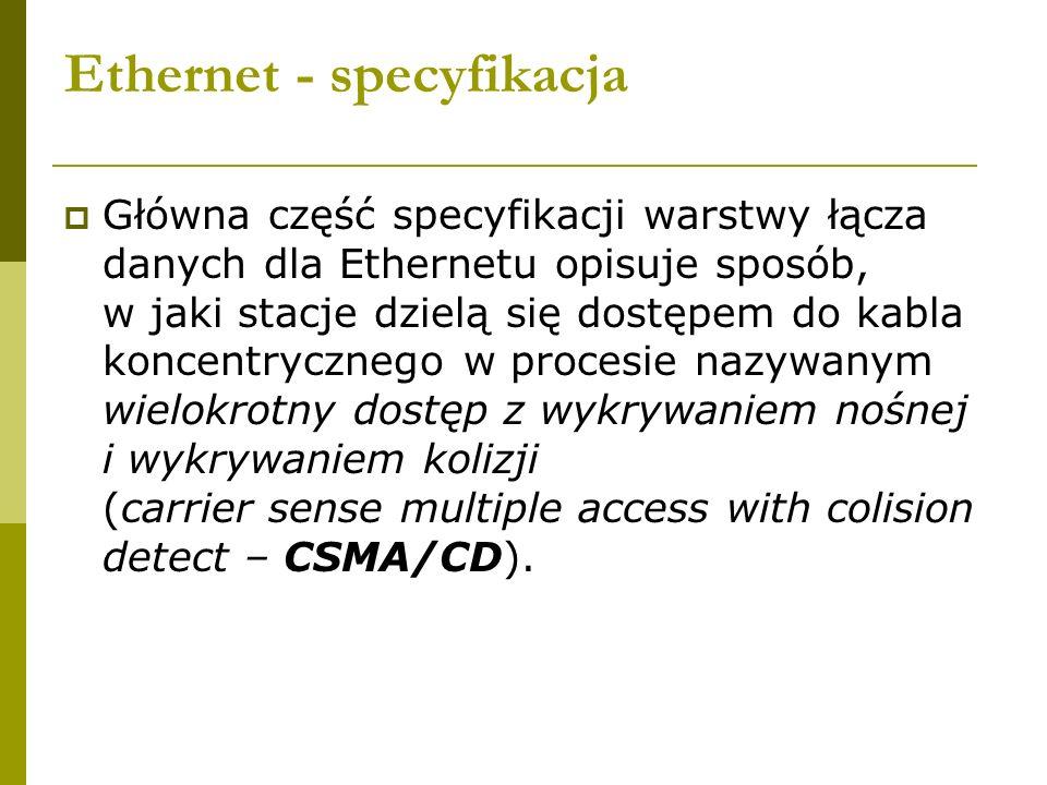 Ethernet - specyfikacja