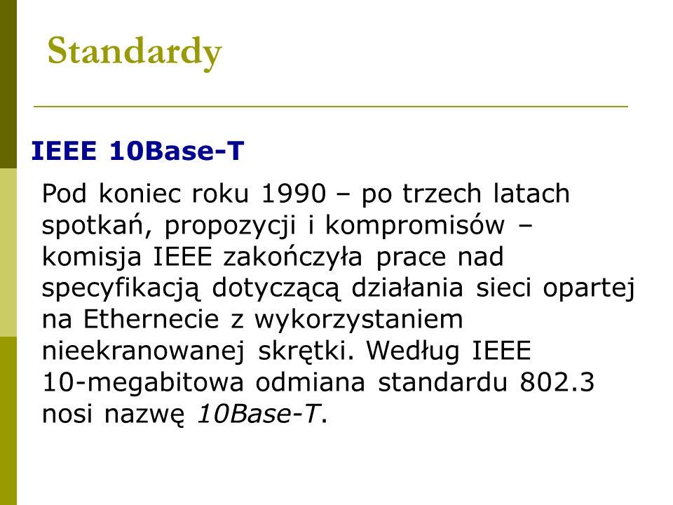 Standardy IEEE 10Base-T.
