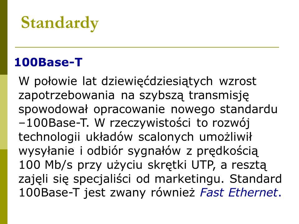 Standardy 100Base-T.