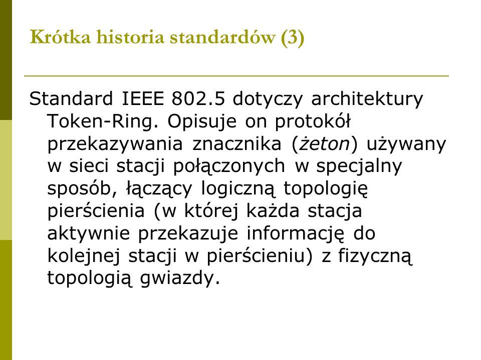 Krótka historia standardów (3)