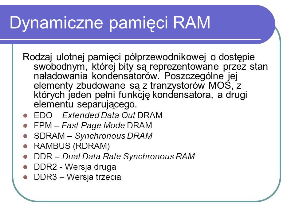 Dynamiczne pamięci RAM