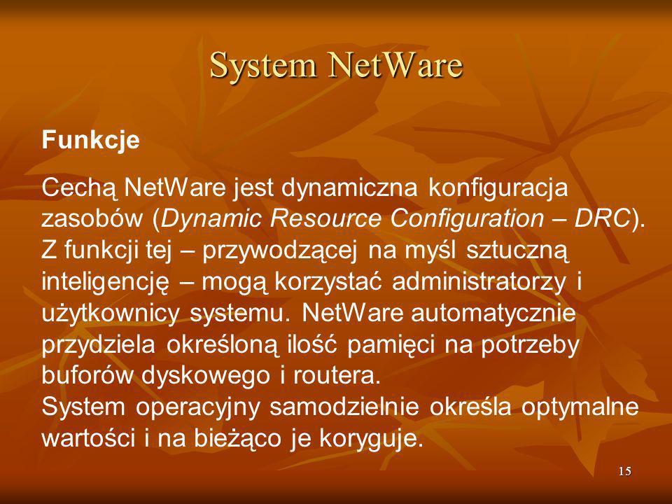 System NetWare Funkcje