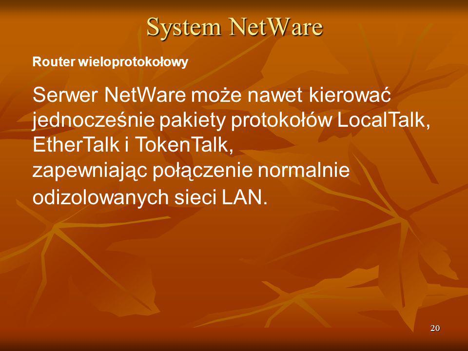 System NetWare Router wieloprotokołowy.