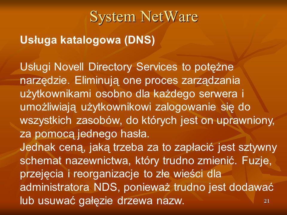 System NetWare Usługa katalogowa (DNS)