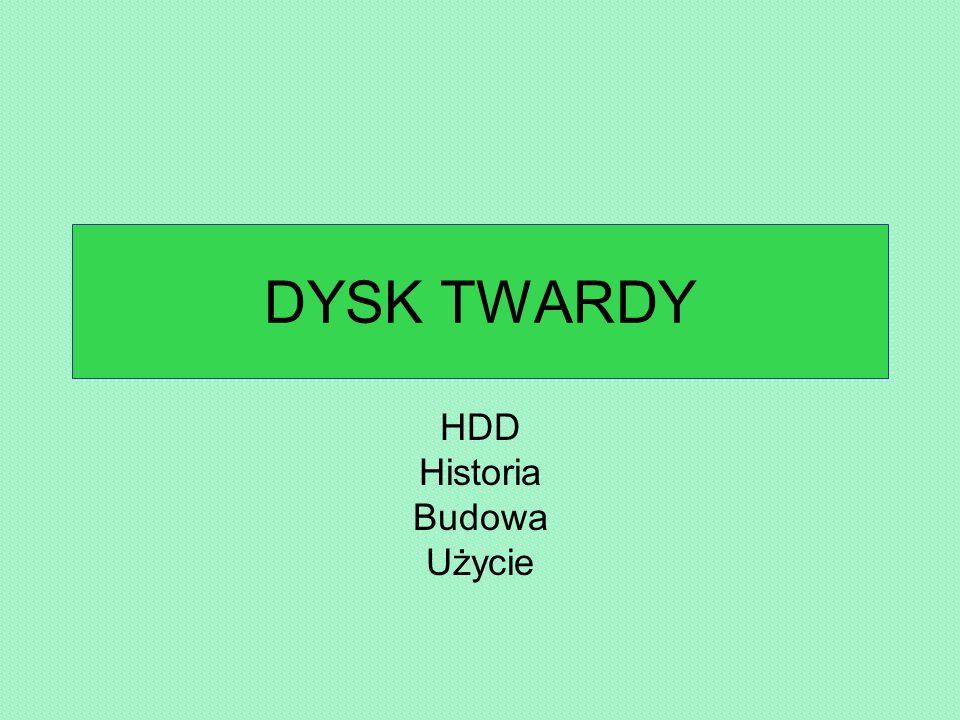 HDD Historia Budowa Użycie
