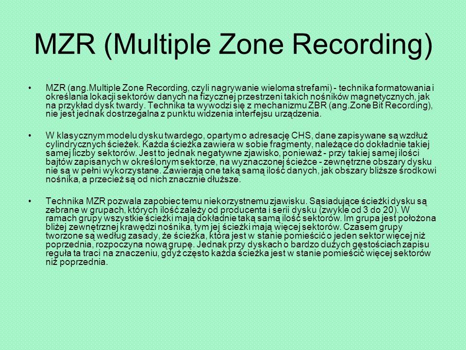 MZR (Multiple Zone Recording)