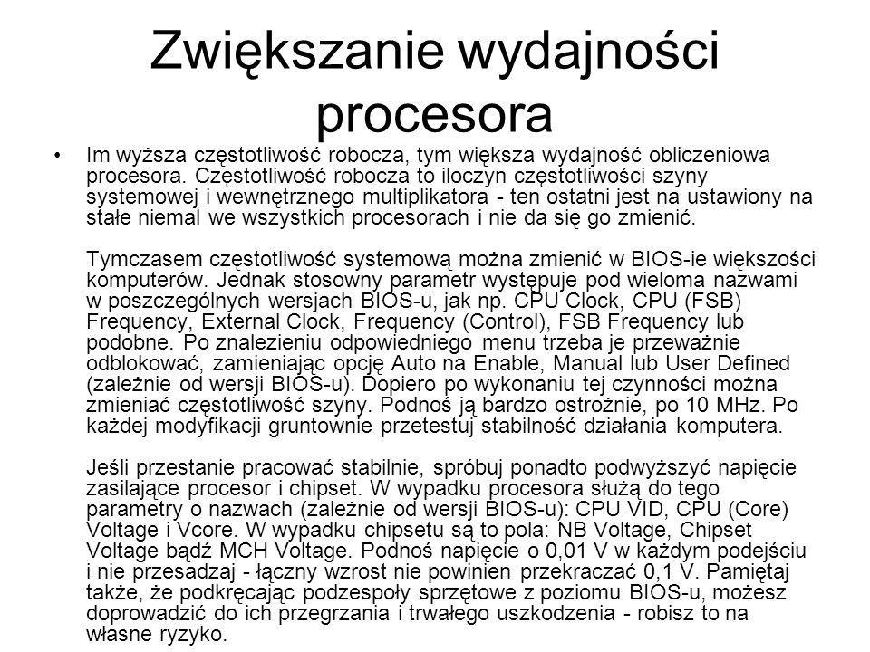 Zwiększanie wydajności procesora