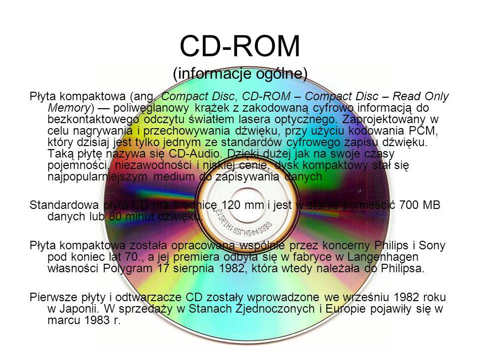 CD-ROM (informacje ogólne)