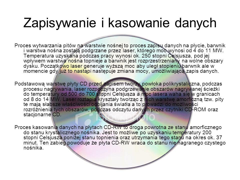 Zapisywanie i kasowanie danych