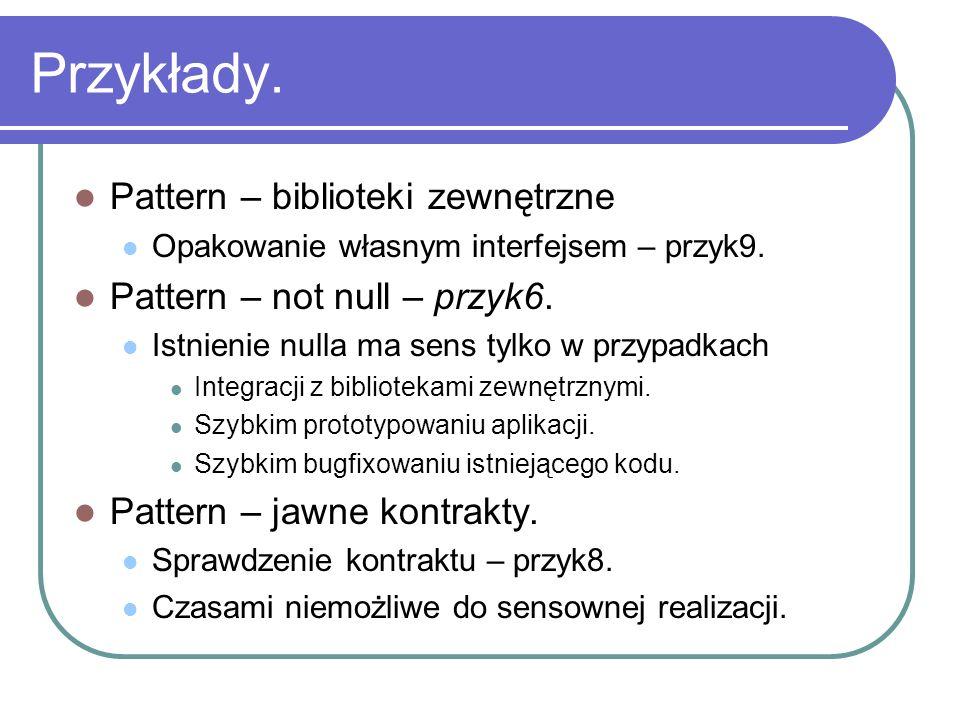 Przykłady. Pattern – biblioteki zewnętrzne