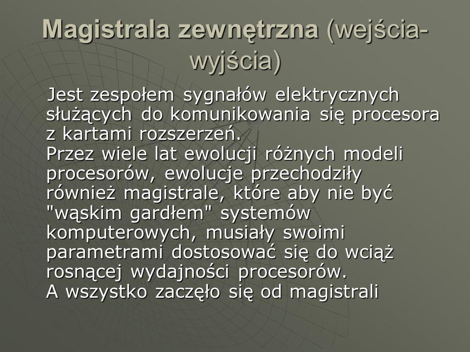 Magistrala zewnętrzna (wejścia-wyjścia)