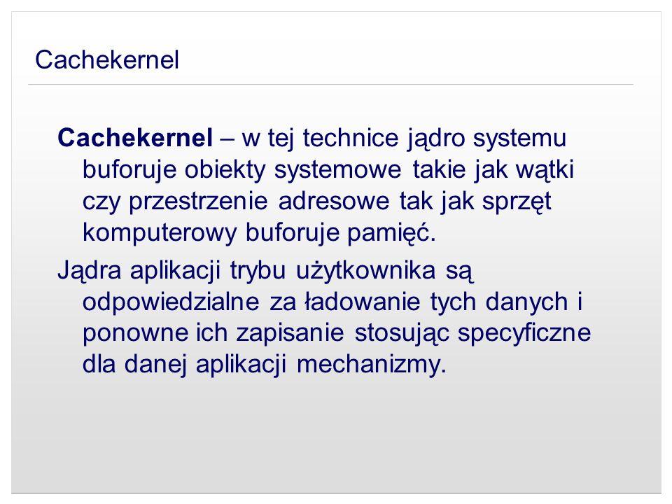 Cachekernel