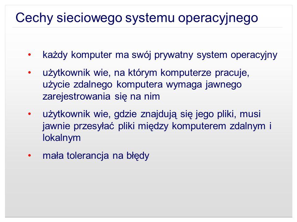 Cechy sieciowego systemu operacyjnego