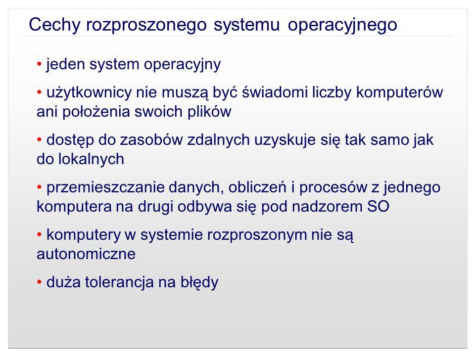Cechy rozproszonego systemu operacyjnego