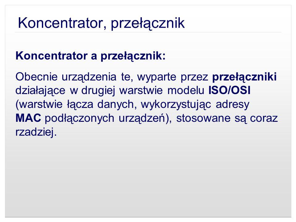 Koncentrator, przełącznik