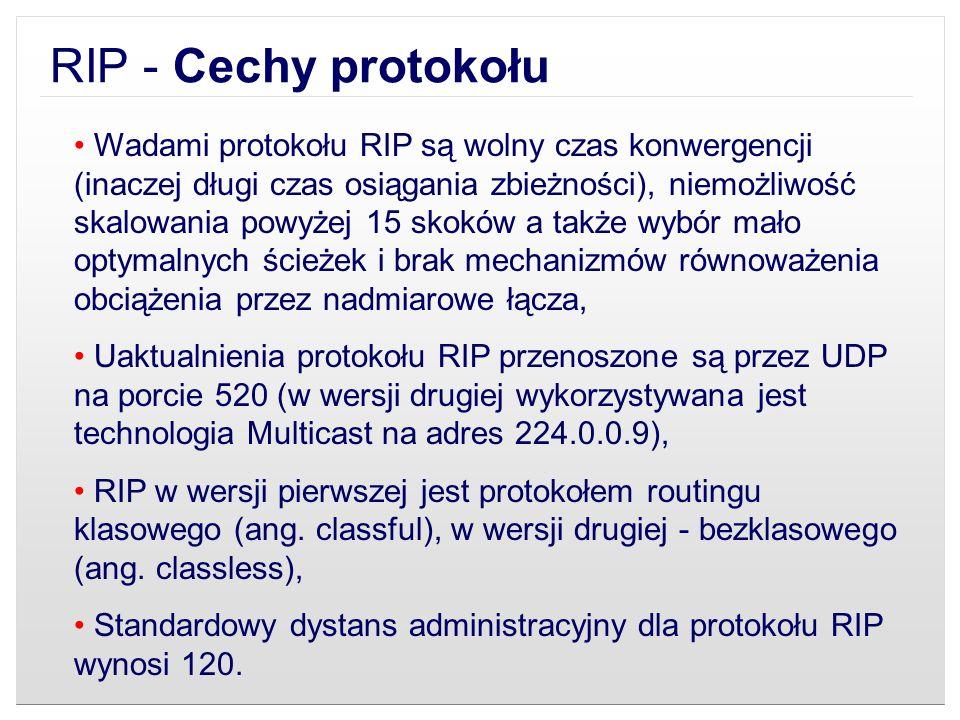 RIP - Cechy protokołu