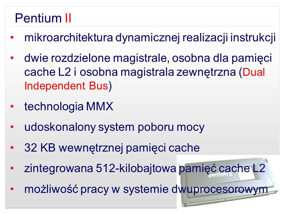 Pentium II mikroarchitektura dynamicznej realizacji instrukcji