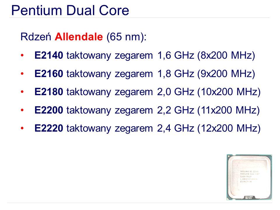 Pentium Dual Core Rdzeń Allendale (65 nm):