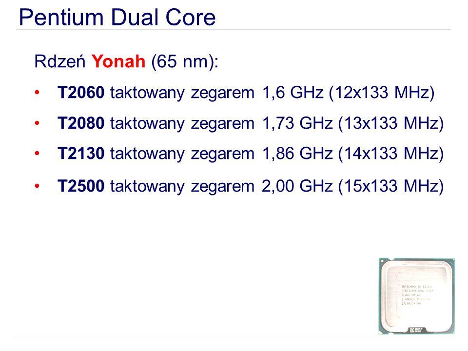 Pentium Dual Core Rdzeń Yonah (65 nm):
