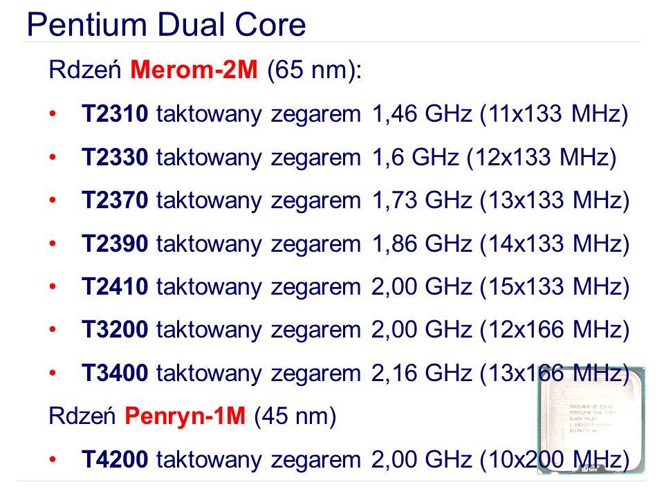 Pentium Dual Core Rdzeń Merom-2M (65 nm):