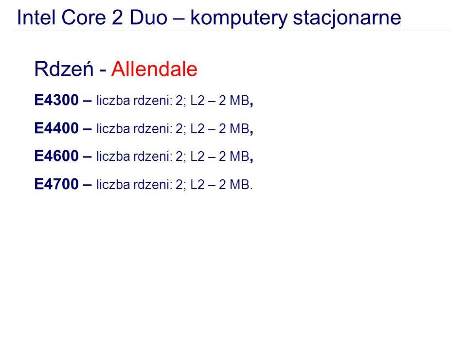 Intel Core 2 Duo – komputery stacjonarne