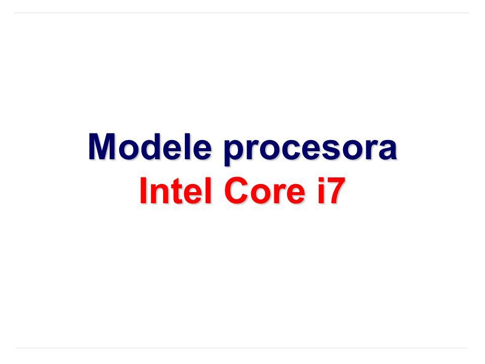Modele procesora Intel Core i7