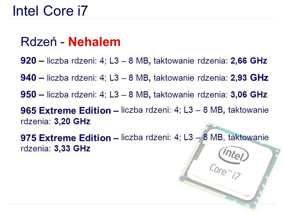 Intel Core i7 Rdzeń - Nehalem