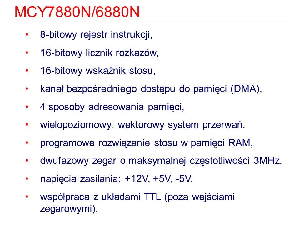MCY7880N/6880N 8-bitowy rejestr instrukcji,