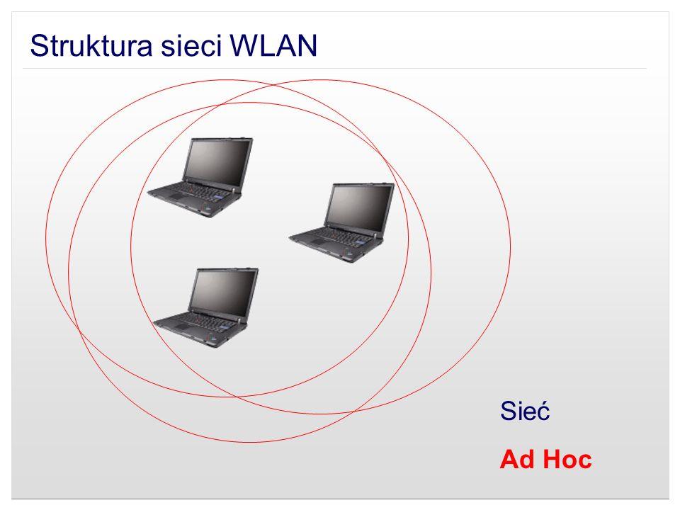 Struktura sieci WLAN Sieć Ad Hoc