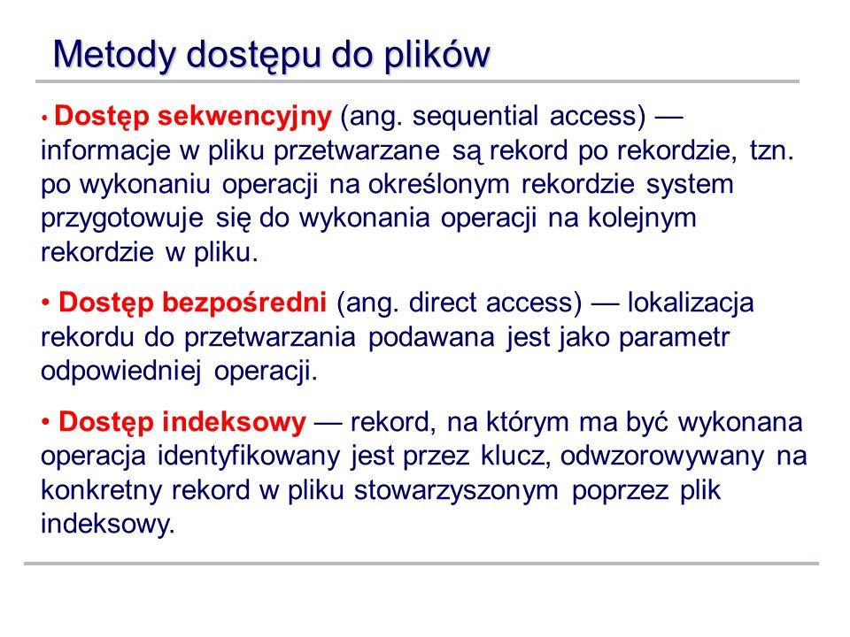 Metody dostępu do plików