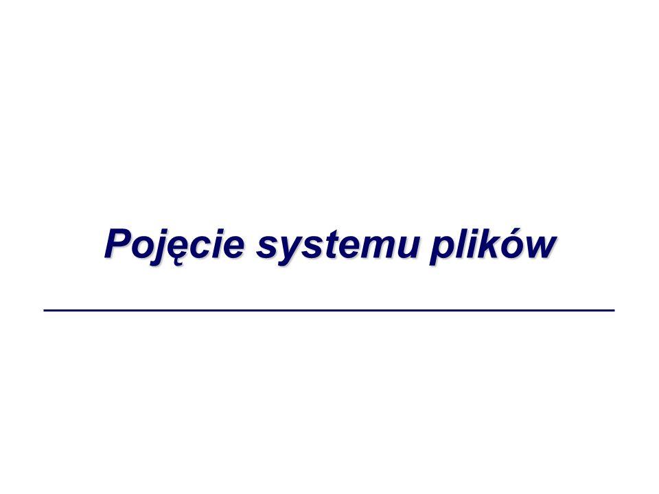 Pojęcie systemu plików