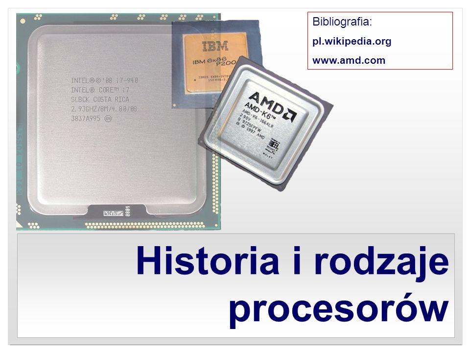 Historia i rodzaje procesorów