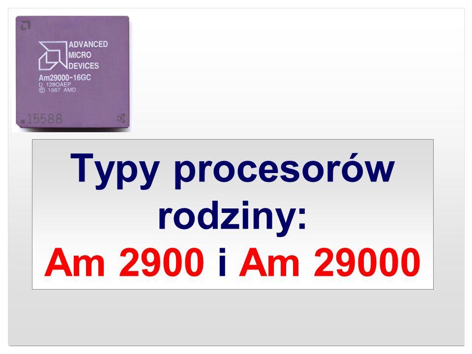 Typy procesorów rodziny: Am 2900 i Am 29000