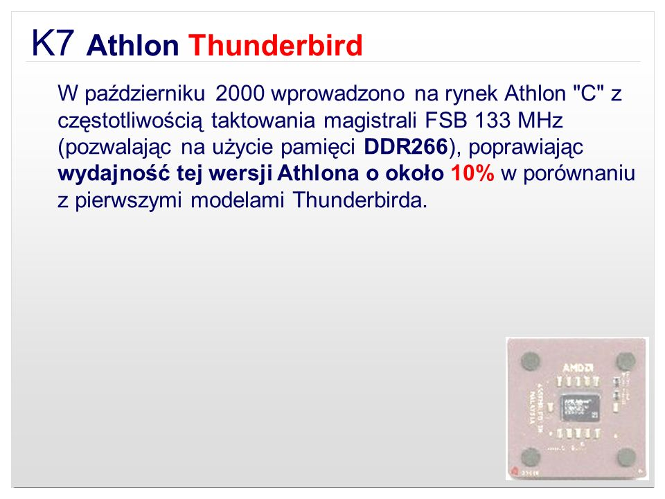 K7 Athlon Thunderbird