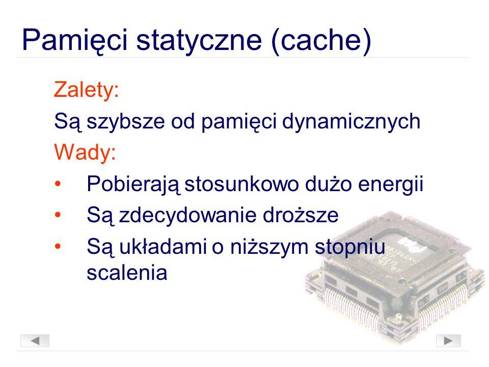 Pamięci statyczne (cache)